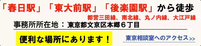 東京離婚相談へのアクセス